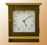 Tall Shaker wall clock face.