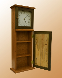 Shaker Wall Clock - door open