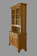 Six Pane Oak Hutch side view.