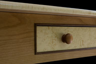 Blistered maple drawer front