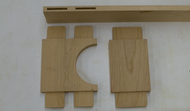 Face frame milled parts with mortise & tenon joinery and arch.