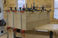 Base face frame glue-up.