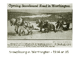Snowplowing in Worthington, 1934 or 35.